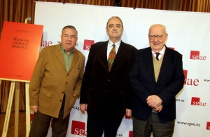 En la imagen, José Luis García del Busto, Tomás Marco y José Luis Borau